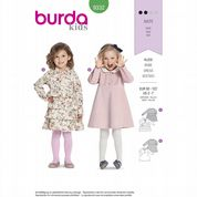 9332  Burda Pattern: Girls' Dress Sizes 2-7